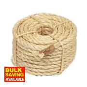 Sisal Natural Rope Light Brown 9.5mm x 15.2m