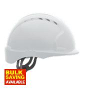 JSP EVO 3 Micro Peak Vented Helmet White