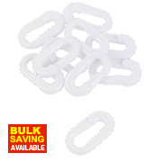 JSP Plastic Barrier Chain Connectors White Pack of 10