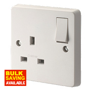 Crabtree Capital 13A 1-Gang DP Switched Socket Gloss White