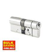 Yale Anti-Snap Euro Double Cylinder Lock 55-40 (95mm) Brushed Nickel