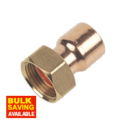 Flomasta End Feed Straight Tap Connector 22mm x ¾""