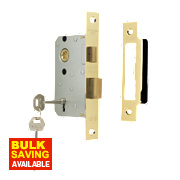 "ERA 3-Lever Sashlock Brass Effect 2½"" / 64mm"