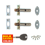 ERA Concealed Door Security Bolts Satin Pack of 2