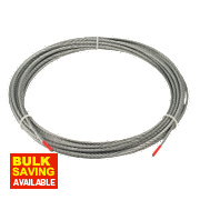Wire Rope Grey 4mm x 10m