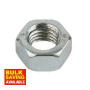 Easyfix Hex Nuts BZP Steel M20 Pack of 50