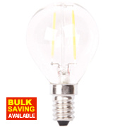 LAP Globe LED Filament Lamp Clear SES 4W