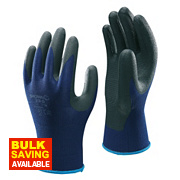 Showa 380 Nitrile Foam Grip Gloves Blue Large