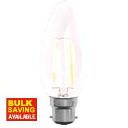 LAP Candle LED Lamp Clear BC 2W
