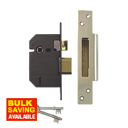 "Yale 5 Lever Sashlock Polished Brass 2.5"" / 64mm"