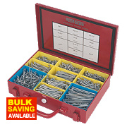 Quicksilver Woodscrews General Trade Case Double-Countersunk 1400Pcs
