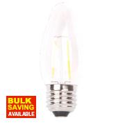 LAP Candle LED Filament Lamp Clear ES 4W