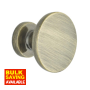 Traditional Classic Disc Door Knobs Polished Brass 30mm Pack of 2