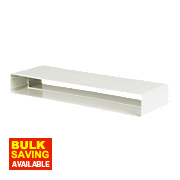 Manrose Flat Channel Connector White 225mm