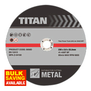 Titan Cutting Discs 230 x 2 x 22.23mm Pack of 3