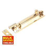 Necked Bolt Polished Brass 102mm