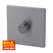 LAP 1-Gang 2-Way Dimmer Switch Mains/Low Voltage 400W Slate Effect