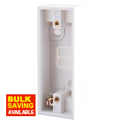 British General 1-Gang Architrave Box White