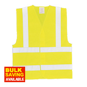 "Hi-Vis Waistcoat Yellow Large / X Large 52"" Chest"