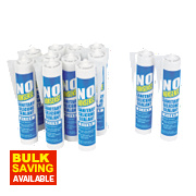 No Nonsense Sanitary Silicone Clear 310ml Pk12