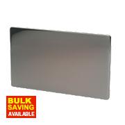 LAP 2-Gang Blank Plate Black Nickel