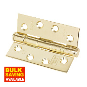 Grade 11 Ball Bearing Hinges Electro Brass 102 x 76mm Pk2