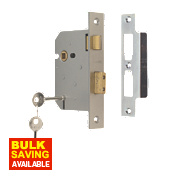 "Union 3-Lever Sashlock Satin Chrome 3"" / 76mm"