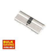 Century 5-Pin Euro Double Cylinder Lock 40-40 (80mm) Nickel