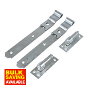 Gate Hinges Hook & Band Pack Spelter Galvanised 50 x 300 x 140mm Pack of 2