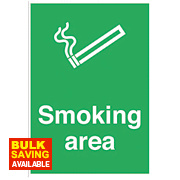 """Smoking Area"" Sign 300 x 500mm"
