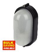 3022S Oval Bulkhead Black 60W