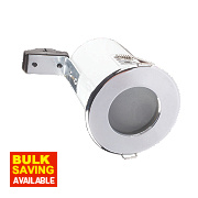 Robus Fixed Round Mains Volt Fire Rated Downlight Polished Chrome 240V