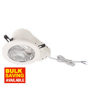 ASD Atom Round Mains Voltage Downlight Fixed PL CFL White 146mm 240V
