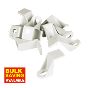 Manrose Flat Channel Clip White 225mm Pack of 10