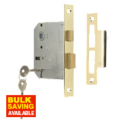 "Sterling 3-Lever Mortice Sashlock Brs "" / mm"