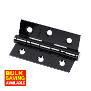 Eclipse Colour Coated Ball Bearing Hinge Black 76 x 52mm Pack of 2