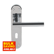 Serozzetta System Lever on Backplate Lock Door Handles Pair Polished Chrome