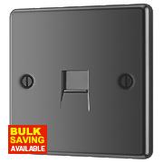 LAP 1-Gang Master Telephone Socket Black Nickel