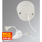 Crabtree 6A 1-Way Pull Cord Switch White