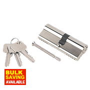 Smith & Locke 5-Pin Euro Double Cylinder Lock 40-45 (85mm) Nickel