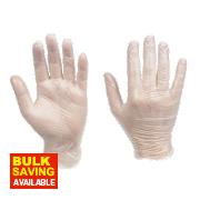 Cleangrip Vinyl Disposable Gloves Clear Medium Pk100