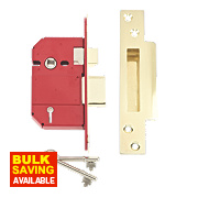 "Union BS 5-Lever Mortice Sashlock Brass 2½"" / 64mm"