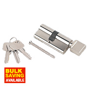 Smith & Locke 5-Pin Thumbturn Euro Cylinder Lock 35-35 (70mm) Nickel