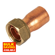 Yorkshire Endex Straight Tap Connector NS62 22mm x ¾""