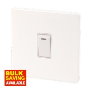 Varilight 1-Gang 20A Ice White Double Pole Switch & Neon