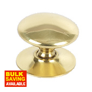 Traditional Victorian Cabinet Door Knob Polished Brass 30mm Pack of 5