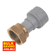 PolyPlumb Straight Tap Connector 15mm x ½""