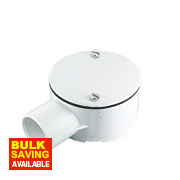 Tower 1-Way Terminal Box 25mm White Pack of 1