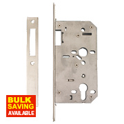 "Eclipse Din Standard Deadlock Stainless Steel 2¾"" (72mm) Backset"