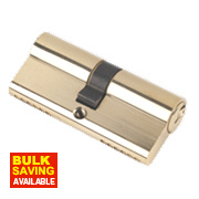 Securefast 6-Pin Keyed Alike Euro Cylinder 35-35 (70mm) Polished Brass